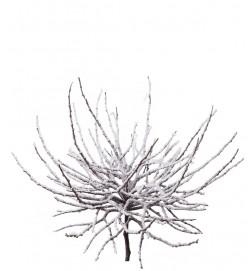 Snöig grendekoration, konstgjord