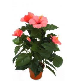 Hibiscus, cerise, konstgjord blomma