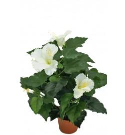 Hibiscus cream, konstgjord blomma