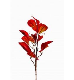 Höstkvist, röda löv, konstgjord kvist