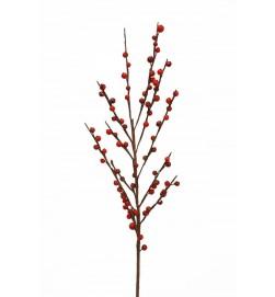 Ilexbär, röda, konstgjord kvist