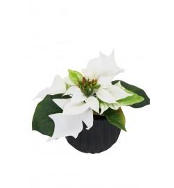 Julstjärna mini, vit, konstgjord