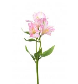 Alstroemeria, rosa, konstgjord blomma