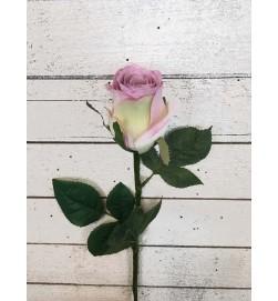 Ros, bleklila med cremebas, konstgjord blomma