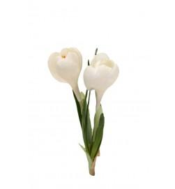 Krokus, vit, konstgjord blomma