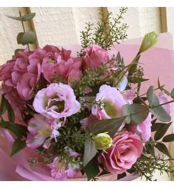 Hortensia, rosa lila, konstgjord blomma