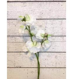 Luktärt, vit, konstgjord blomma