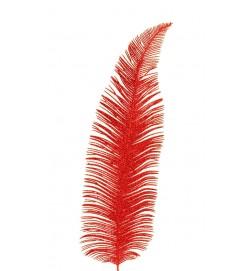 Palmblad, rött glitter