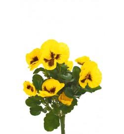 Pensé, gul, konstgjord blomma