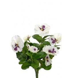 Pensé, vit, konstgjord blomma