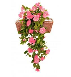 Petunia häng i kruka, rosa, konstgjord
