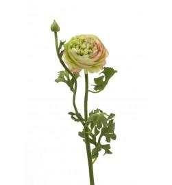 Ranunkel, rosa lime, konstgjord blomma