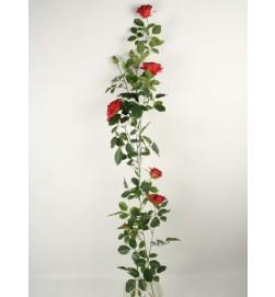 Rosengirlang, konstgjord, röd