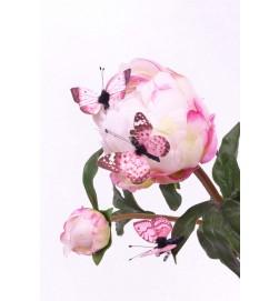 fjäril, rosa 3-pack