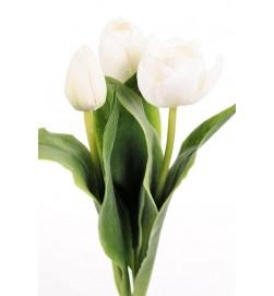 Tulpan 3-pack, vit, konstgjord blomma