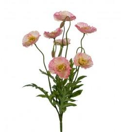 Vallmo, rosa, konstgjord blomma