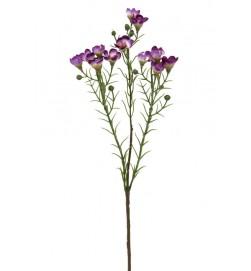 Vaxblomma, lila, konstgjord blomma