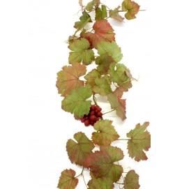 Vinranka med vinröda druvor, konstgjord